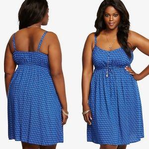 Dot Geometric Chalice Tank Dress